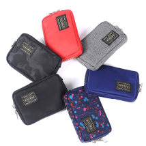 wallet Coin bag nylon Porter brand new Japan and South Korea male zipper Solid color 80% off Horizontal style youth Jam Sewing polyester fiber 08183