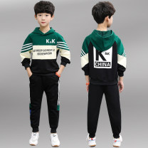 suit Other / other Red, green, blue 120cm,130cm,140cm,150cm,160cm,170cm male spring and autumn Korean version Long sleeve + pants 2 pieces routine There are models in the real shooting Socket No detachable cap Cartoon animation cotton children Giving presents at school MK Class B