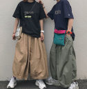 Casual pants Army green, khaki, black M, L Summer of 2019 Ninth pants Knickerbockers Natural waist street Thin money 18-24 years old Other / other neutral