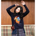sweater Winter of 2019 S,M,L Navy Blue Long sleeves Socket singleton  Regular acrylic fibres 95% and above Crew neck Regular street routine Cartoon animation Straight cylinder Regular wool