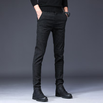 Casual pants Others Fashion City Grey, Navy, black 28 (2.16 feet), 29 (2.23 feet), 30 (2.31 feet), 31 (2.39 feet), 32 (2.46 feet), 33 (2.54 feet), 34 (2.62 feet), 36 (2.77 feet), 38 (2.92 feet) routine trousers Other leisure Straight cylinder autumn youth Business Casual 2021 cotton