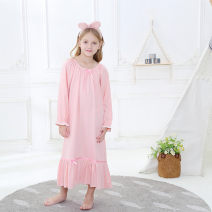 Home skirt / Nightgown Princess House Other 100% 698 white elastic collar with 3 / 4 sleeves, 698 white elastic collar with long sleeves, 698 pink elastic collar with long sleeves Four seasons female 11-13 years old, over 13 years old Anti static, moisture and sweat absorption Class A cotton