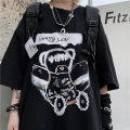 T-shirt Youth fashion White, black routine M, L Others Short sleeve Crew neck easy daily summer Cotton 56% polyester 38% polyurethane elastane 6% teenagers Off shoulder sleeve tide Cotton wool 2020 other Non brand
