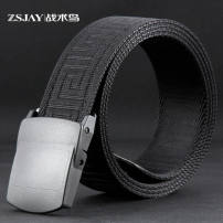 Belt / belt / chain canvas F21 black male belt leisure time Single loop Youth, middle age and old age Smooth button Glossy surface soft surface 3.8cm