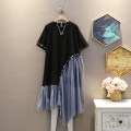 Dress Summer 2021 black Average size Mid length dress singleton  Short sleeve commute Crew neck Loose waist other Socket A-line skirt routine Others 25-29 years old Type H Korean version 30% and below other polyester fiber