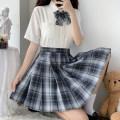 skirt Autumn 2020 XS,S,M,L,XL Twilight moon 42cm skirt, twilight moon 45cm skirt Short skirt Sweet Natural waist Pleated skirt lattice 18-24 years old H-030 college