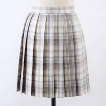 skirt Summer 2020 S,M,L,XL Short skirt Sweet High waist Pleated skirt lattice 18-24 years old C-033 31% (inclusive) - 50% (inclusive) polyester fiber solar system
