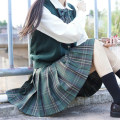 skirt Autumn 2020 XS,S,M,L,XL Short skirt Sweet Natural waist Pleated skirt lattice 18-24 years old college