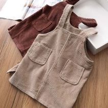 Dress Khaki, brown female Other / other 7 (90cm), 9 (100cm), 11 (110cm), 13 (115cm), 15 (125cm) Other 100% Solid color other Strapless skirt 3 months