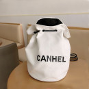 Bag Cosmetic Bag canvas other Other / other brand new Japan and South Korea in leisure time hard Belt buckle yes written words Double root juvenile Bucket shaped letter polyester cotton