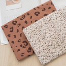 Fabric / fabric / handmade DIY fabric cotton Coffee color flower, coffee color Leopard Loose shear piece Plants and flowers other clothing Others Mom and Dad 100% Chinese Mainland