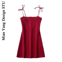 Dress Summer of 2019 S, M Short skirt singleton  Sweet High waist Solid color 18-24 years old Type A Ruili