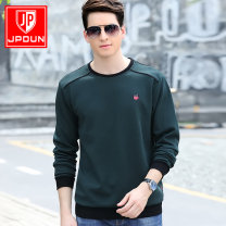T-shirt Fashion City Red grey blue black white dark green dark green plush red plush grey Plush black Plush routine 170/M 175/L 180/XL 185/2XL 190/3XL 195/4XL Jeep shield Long sleeves Crew neck easy motion autumn Cotton 82% polyester 18% routine Simplicity in Europe and America Knitted fabric cotton