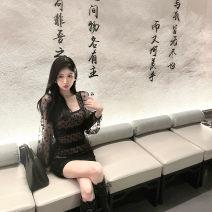 Dress Spring 2021 Shuiyu transparent white dress, Jiaoqiao transparent black dress, Shuiyu transparent white dress [Second Batch], Jiaoqiao transparent black dress [Second Batch] XS,S,M,L GAWL21543