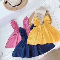 T-shirt Yellow, red, navy Other / other The recommended height is 90cm for size 7, 100cm for size 9, 110cm for size 11, 120cm for size 13 and 130cm for size 15 female summer To be deleted square neck Korean version No model nothing other Solid color Other 100% Class B
