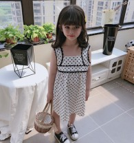 Dress Polka dot skirt female Other / other The recommended height is 90cm for size 7, 100cm for size 9, 110cm for size 11, 120cm for size 13 and 130cm for size 15 Other 100% summer princess Short sleeve Dot other A-line skirt Class B