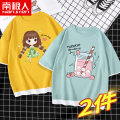 T-shirt NGGGN 110cm 120cm 130cm 140cm 150cm 160cm 165cm female summer There are models in the real shooting nothing cotton printing Cotton 100% NJRXPJLJ000010 Class B Sweat absorption Summer 2021 Chinese Mainland Hubei province Wuhan City