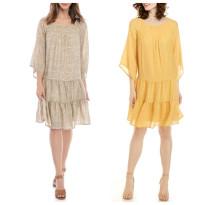 Dress Spring 2020 S,M,L,XL Middle-skirt singleton  elbow sleeve Crew neck Loose waist Decor Socket other pagoda sleeve Others printing 51% (inclusive) - 70% (inclusive) brocade hemp