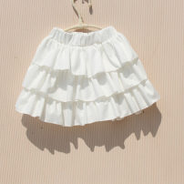 skirt white You baobao female Other 100% Korean version Solid color Chiffon