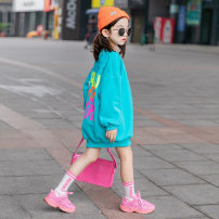 Sweater / sweater Other / other Black, pink, cyan, pink spring and autumn, cyan spring and autumn, green spring and autumn female 110cm, 120cm, 130cm, 140cm, 150cm, 160cm, 170 adult one size fits all winter nothing leisure time Socket thickening There are models in the real shooting cotton Class B