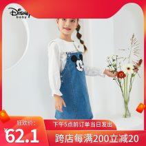 Dress spring and autumn Strapless skirt Cartoon animation female Disney Cotton 75% polyester 23.2% polyurethane elastic fiber (spandex) 1.8% 12 months, 18 months, 2 years old, 3 years old, 4 years old, 5 years old, 6 years old, 7 years old, 8 years old, 9 years old 1-DB031RE07 Denim blue