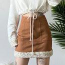 skirt Winter 2020 S,M,L Black, Khaki Short skirt commute Natural waist skirt other Type H 18-24 years old YBD- K20J09292 91% (inclusive) - 95% (inclusive) other dulzura polyester fiber