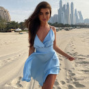 Dress Summer 2020 Light blue, green, apricot, pink S,M,L Short skirt singleton  Sleeveless street V-neck High waist Solid color Socket A-line skirt other camisole 18-24 years old Type H dulzura Bow tie D031761 81% (inclusive) - 90% (inclusive) other polyester fiber Europe and America