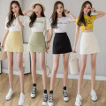 skirt Spring 2021 S,M,L,XL Black, apricot, green, yellow Short skirt commute High waist skirt Solid color Type A 18-24 years old 71% (inclusive) - 80% (inclusive) other other Korean version