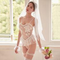 Fun suit Fei Mu Nylon, polyester Hair band + suspender skirt + T pants + BRACELET * 2 + leg ring * 2, bridal suit + white lace stockings Tight coating style Princess Dress other Feimu 7729 Average size
