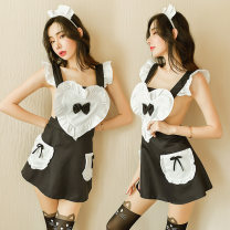 Fun suit Fei Mu polyester fiber Black [with hairband + tie apron + T pants], blue [with hairband + tie apron + T pants], pink [with hairband + tie apron + T pants] Feimu 7067 other Maid's clothing other Feimu 7067 Average size