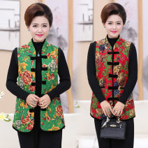 Middle aged and old women's wear Autumn of 2019 Color 1 - women's cotton padded vest, color 2 - women's cotton padded vest, color 3 - women's cotton padded vest, color 4 - women's cotton padded vest, color 5, color 6, color 7, color 8, color 9 2-102 New European clothes