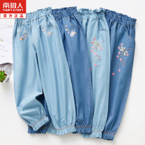 trousers NGGGN female 100cm 110cm 120cm 130cm 140cm summer trousers Korean version No model Casual pants Leather belt middle-waisted cotton Don't open the crotch Cotton 100% Class A Summer 2020 Chinese Mainland Zhejiang Province Jinhua City