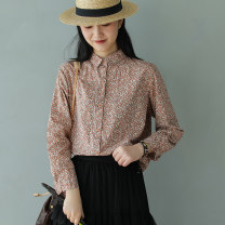 shirt Black, orange Average size Spring 2020 cotton 96% and above Made by Xiaoer
