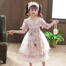 Dress female Bad little treasure 110cm,120cm,130cm,140cm,150cm,160cm Other 100% summer Lolita Short sleeve other other other Class B 2, 3, 4, 5, 6, 7, 8, 9, 10, 11, 12, 13, 14 years old