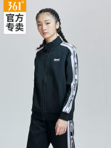 Sports jacket / jacket 361° female S (adult), m (adult), l (adult), XL (adult), 2XL Basic black Autumn of 2018 Crew neck zipper Letter, brand logo, pattern Sports & Leisure Sports Life Series