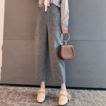 Casual pants grey One, two, three, four, five Spring 2021 Ninth pants Pencil pants High waist Versatile routine 51% (inclusive) - 70% (inclusive) Brother amashi other pocket
