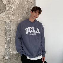 Sweater Youth fashion Others Grey (plush), black (plush), blue (plush), oat (plush), grey (spring and autumn thin), black (spring and autumn thin), oat (spring and autumn thin) Average size other Socket autumn