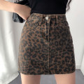 skirt Summer of 2019 S,M,L Leopard Print Short skirt street High waist other Leopard Print Type A 18-24 years old Denim Other / other other