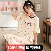 Pajamas / housewear set female Finthen  [100% cotton, no pilling], m [recommended 80-100 kg], l [recommended 100-120 kg], XL [recommended 120-140 kg], XXL [recommended 140-160 kg] 2094,2080,2081,2082,2083,2084,2085,2086,2087,2088,2089,2090,2091,2092,2093,2095 cotton Short sleeve Sweet Leisure home