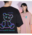 T-shirt Youth fashion violet , green , black , blue , Pink , Ben White thin XL,L,M,S,XXL,XXXL Korean and Japanese Short sleeve Crew neck easy Other leisure summer H1001 Cotton 95% other 5% Couples dress routine tide Cartoon animation printing cotton Animal design No iron treatment