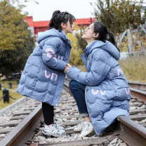 Cotton padded jacket female No detachable cap other Cloth clothes Miaomiao house Blue, off white 110cm,120cm,130cm,140cm,150cm,160cm,170cm,175cm thickening Zipper shirt Korean version There are models in the real shooting other other Class C other Other 100% Cotton liner XXQZMY Chinese Mainland