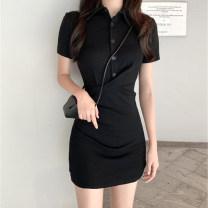 Sports dress U21064F female Auden black S M L XL Spring 2021 Short sleeve Socket V-neck Sports & Leisure