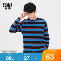 T-shirt Youth fashion Blue black stripe d0289 routine 160/80A/XS,165/84A/S,170/88A/M,175/92A/L,180/96A/XL,185/100A/XXL,185/104B/XXXL Semir / SEMA Long sleeves Crew neck standard Other leisure autumn 19-320011208 Cotton 100% youth routine Basic public other stripe cotton other washing More than 95%