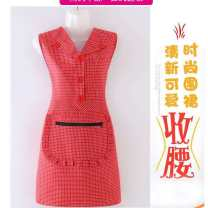 apron Jujube, grey check, light red, green check, jujube with sleeves, grey check with sleeves, green check with sleeves, light red with sleeves Sleeveless apron antifouling Korean style pure cotton Personal washing / cleaning / care Average size the post-80s generation yes like a breath of fresh air