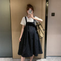 Dress Other / other L,XL,XXL Korean version Sleeveless Medium length summer square neck Solid color
