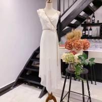 Dress Summer 2020 white S,M,L High waist Irregular skirt Type A