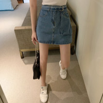 Jeans Summer 2020 Jeans s, jeans m, jeans L, 8544 white top Average size shorts High waist Thin money 18-24 years old Wash, stick cloth, multi pocket Cotton elastic denim Dark color Other / other