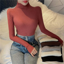 Wool knitwear Autumn 2020 Average size Long sleeves singleton  Socket other 91% (including) - 95% (excluding) Regular routine commute Self cultivation Half height crew neck routine Solid color Socket Simplicity
