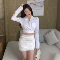Fashion suit Winter 2020 S, M Top, suit top , White trouser skirt 18-25 years old 71% (inclusive) - 80% (inclusive) cotton
