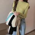 Wool knitwear Autumn 2020 Average size Black, white, gray, apricot, yellow, blue, khaki Long sleeves singleton  Socket other 71% (inclusive) - 80% (inclusive) routine commute Self cultivation routine Solid color Korean version 18-24 years old